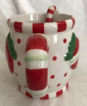 Cracker Barrel Ceramic Christmas Embossed Sweets & Treats Mug & Spoon Set Candy image 3