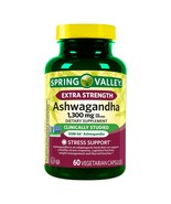 Spring Valley Extra Strength Ashwagandha 1300 mg Stress Support 60 CT Ex... - $19.75