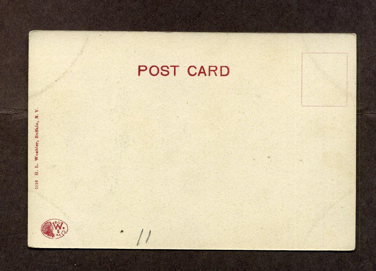Vintage Postcard Undivided Back Central High School Detroit MI