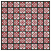 Vintage Redwork Gameboard medallion PDF cross stitch chart John Shirley new desi - $89,02 MXN