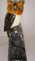 "Vintage Owl on Book Carved Figure 6"" Bookend - $18.99"