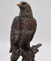 Eagle Perched on a tree Branch Beautiful BIG Sculpture *Free Air Shipping - $117.81