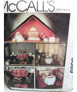 McCalls 6889 Dollhouse & Furniture Living Room Bedroom Dining Room Pattern - $35.00