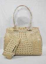 SET of Brahmin Alice Carryall Tote / Shoulder Bag + Wallet Champagne Melbourne - $399.00