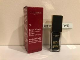 Clarins Instant Light Lip Comfort Oil #08 Blackberry NIB - $13.16