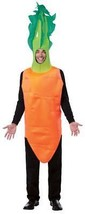 Carrot-Top Adult Costume Men Women Orange Vegetable Food Halloween Uniqu... - $62.99