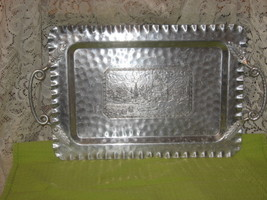 Hammered Aluminum Tray w/ Raised Handles - $30.00