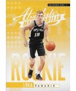 Luka Samanic Absolute Memorabilia 19-20 #18 Yellow Rookie Card San Anton... - $0.50