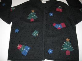 Ugly Christmas Sweater Cardigan Button Talbots 2X - $26.00