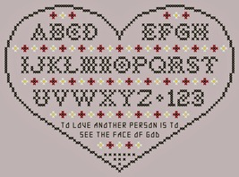 To Love Another Person Heart Sampler PDF cross stitch chart John Shirley  - $5.00