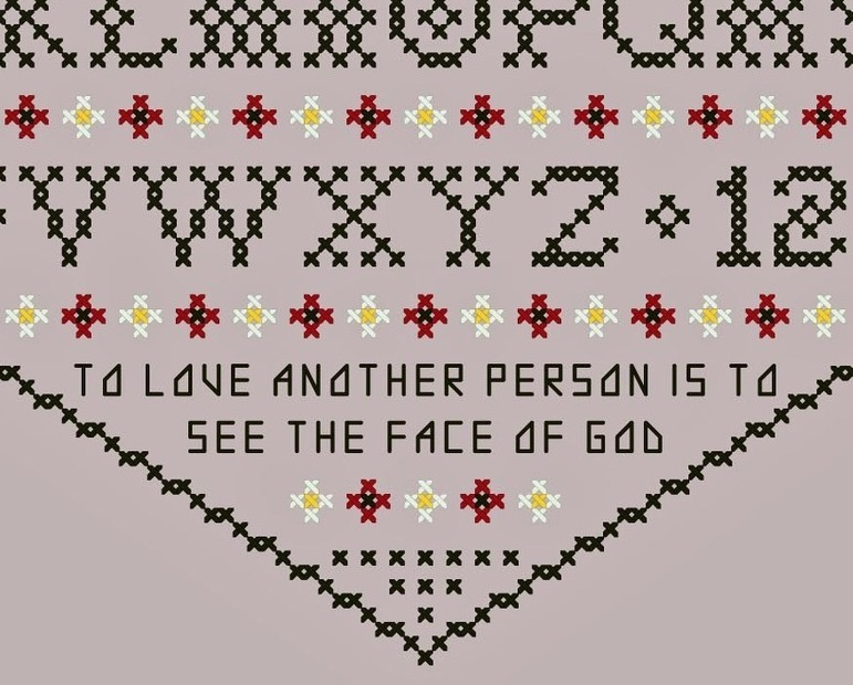 To Love Another Person Heart Sampler PDF cross stitch chart John Shirley