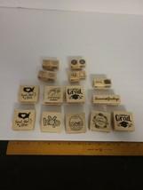 Lot of 19 Rubber Stamp Wood Mount Scrapbooking Craftsmart Stampcraft NEW NOS - $8.82