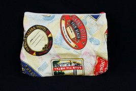 Estee Lauder Makeup Bag Vintage International Hotel Travel Sticker Print... - $8.12