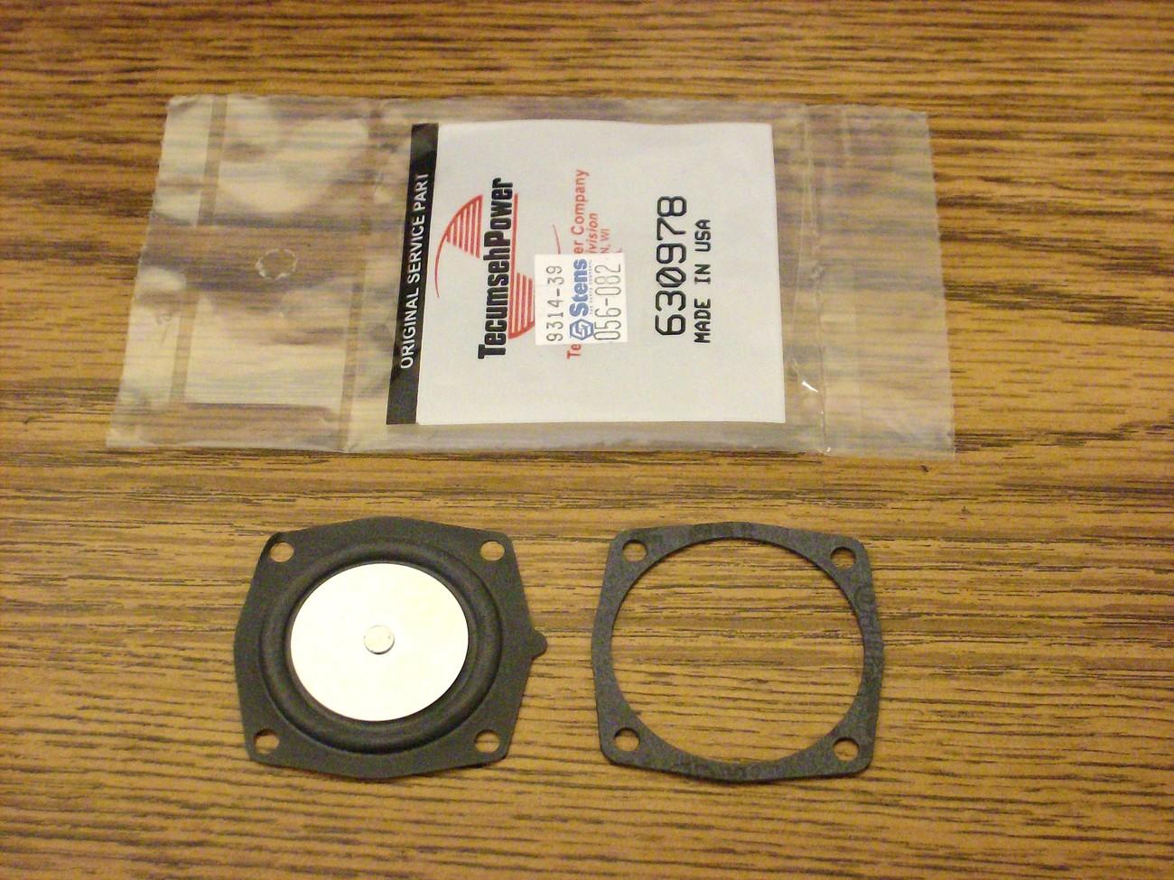 Tecumseh carburetor diaphragm rebuild kit for ice auger edger 630978, 631069