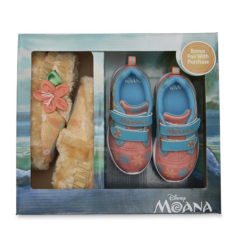 NEW NIP Girls Disney Moana Sneakers with Slippers Size 9 Shoes