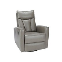 Monarch Specialties I 8087GY Charcoal Grey Bonded Leather Recliner Swive... - $283.26