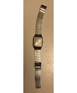 Seiko Quartz Two Tone Square Silver Dial Dress Watch Model 6530-5510 - $29.70