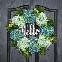QUNWREATH Handmade Floral 18 inch Green Hydrangea Series Wreath,Gifts Package,Fr - $75.07