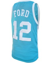 Phil Ford #12 College Basketball Custom Jersey Sewn Light Blue Any Size image 2