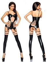 wetlook-straps-set Top Perizoma Scaldamuscoli Strap Saresia ritagli ling... - $49.00