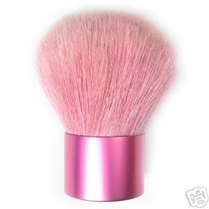 Primary image for PINK KABUKI BRUSH All Natural Bristle Mineral Goat Hair Bare Makeup Buffing