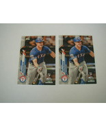2020 TOPPS SCOTT HEINEMAN ADVANCED STAT 40/300 & BASE 2 CARD LOT TEXAS R... - $4.94