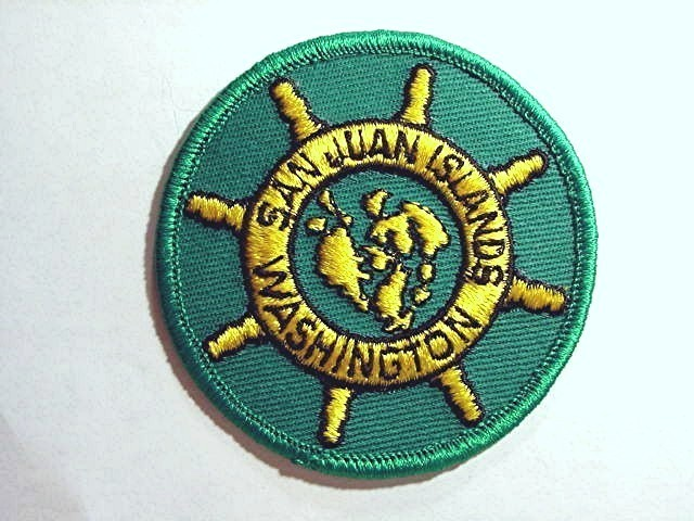 Vintage Souvenir Patch SAN JUAN ISLANDS WASHINGTON