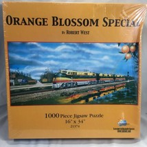 Robert West Puzzle 1000 Pieces Orange Blossom Special Railroad Gulf Oil 16 X 34 - $24.72