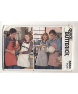 Vintage Butterick Quick Easy Apron Mitt Sewing Pattern #6663 Unisex One ... - $8.99