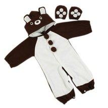Cute Baby Bodysuit Infant Onesies Toddlers Romper Brown Bear For Creeping 12-18M