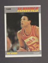 1987-88 Fleer Basketball # 92 Doc Rivers Atlanta Hawks NEAR MINT to MINT - $0.99