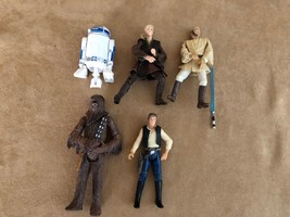 2001 Star Wars Hasbro action figure lot LFL R2D2 Han Solo Kenner - $18.50