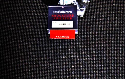 Croft & Barrow Mens Classic Signature Sweater Vest  Size Small Dark Grey NWT image 2