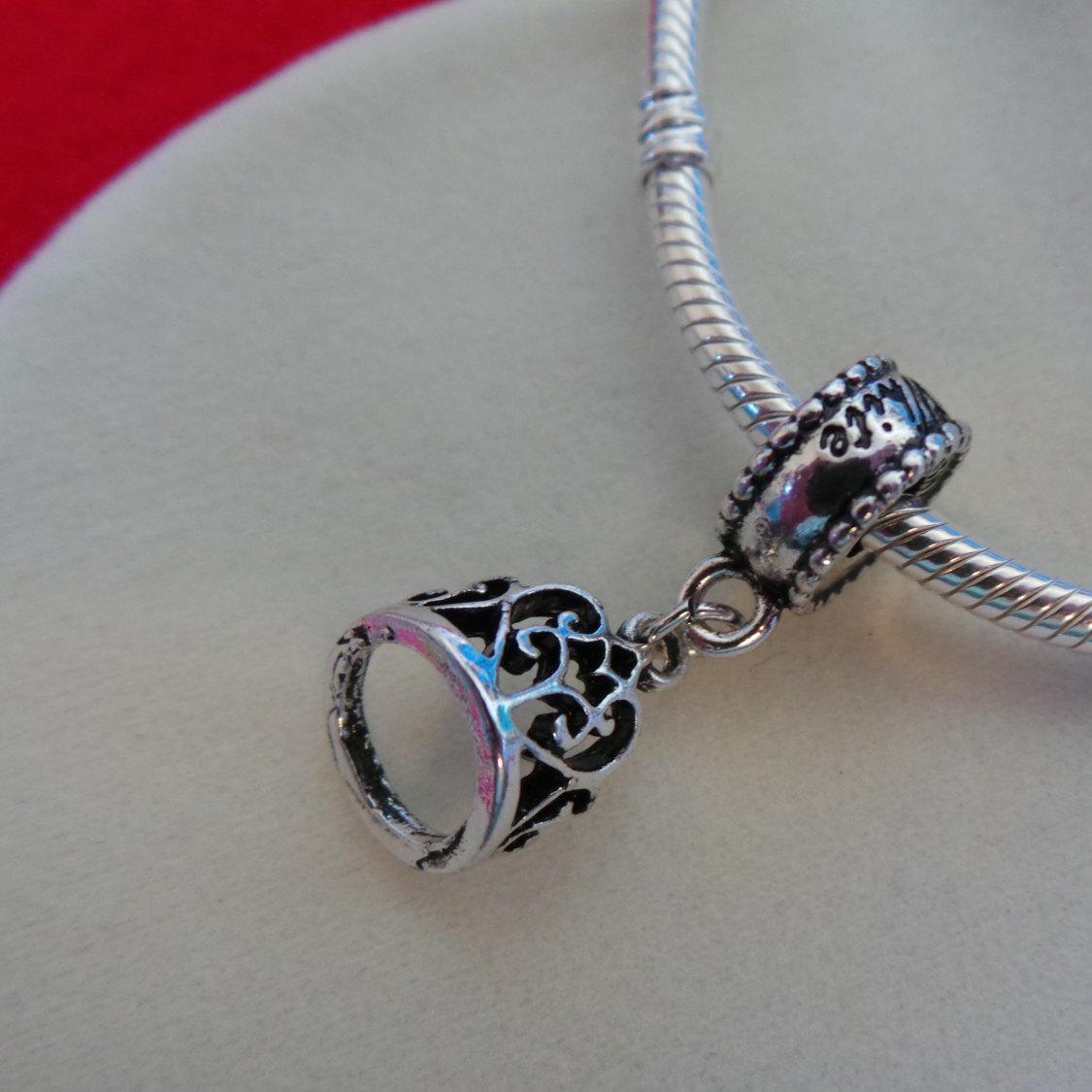 NEW Disney Princess Theme Dangle Charm - Snow White's Tiara Crown, silver plate