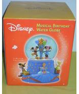 Disney Musical Birthday Water Globe New In The Box - $54.99
