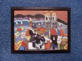 RI Artist R Califano Art Pastel Painting On The Town Dated 2003 Signed 0... - $199.00