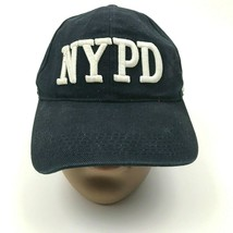 VINTAGE NYPD Police Hat Cap Blue Strapback 3D Embroidered Adjustable New York  - $27.33