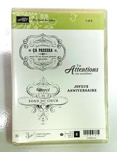 Stampin Up! 128192 Du fond du coeur French Rubber Stamp Set (stamps only... - $14.84