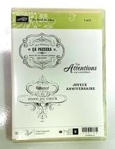 Stampin Up! 128192 Du fond du coeur French Rubber Stamp Set (stamps only... - $14.84