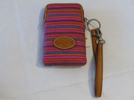 Fossil SL4120875 Keyper Carryall Colorful Stripes Wristlet iPhone Galaxy... - $20.56