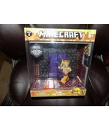 Minecraft: The Nether Biome W/Zombie Pigman Series 4 New Collectible Pla... - $24.90