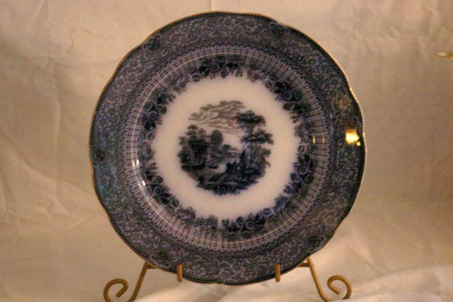 Primary image for Ridgeways Potteries Of Staffordshire Grecian Flow Blue Dinner Plate
