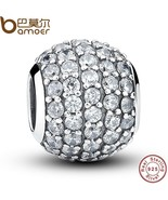 Buy 925 Sterling Silver Pave Czech Bead BALL Charm Fit Bracelet With Cle... - $34.99