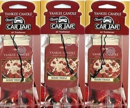12 new yankee candle classic car jar air freshener berry trifle scent - $26.00