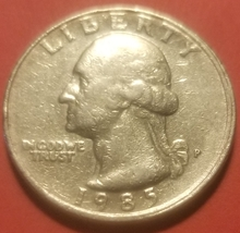 1985-P Washington Quarter Coin DIE CRACK ERROR - $35.00