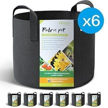 6-PK 10 Gallon Grow Bags Earth Aeration Fabric Pots W Handles Warm Cool ... - €17,36 EUR