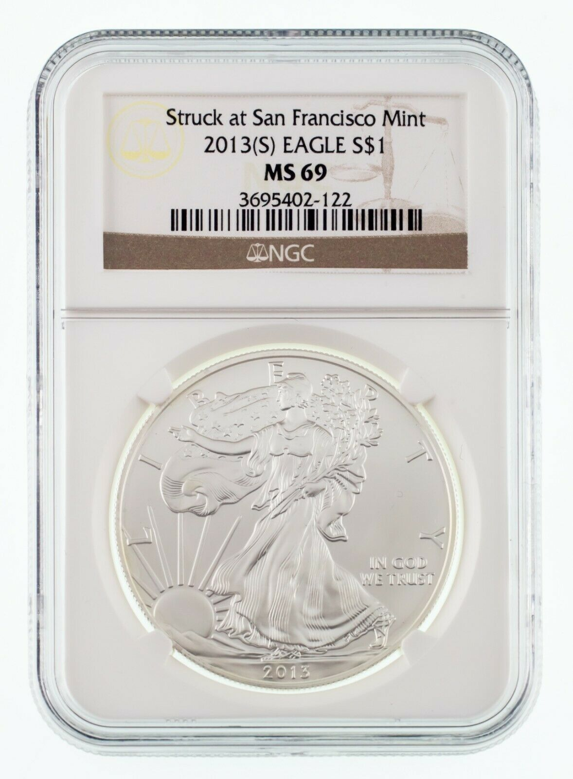 1988 NGC MS 69 $1 Silver American Eagle Uncirculated 1 oz