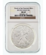 2013-(S) $1 Silver American Eagle Graded by NGC as MS-69 - $39.60