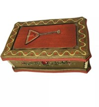 "Vintage REUGE Swiss Music Jewelry Box ""Doctor Zhivago""  Wood Balalaika D... - $42.70"
