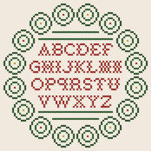 Spiral Wreath Sampler christmas PDF cross stitch chart John Shirley new designer - $89,02 MXN
